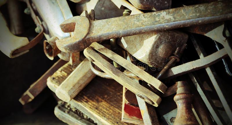 download old tools rust for sale in the antique shop stock image image of antiquarian