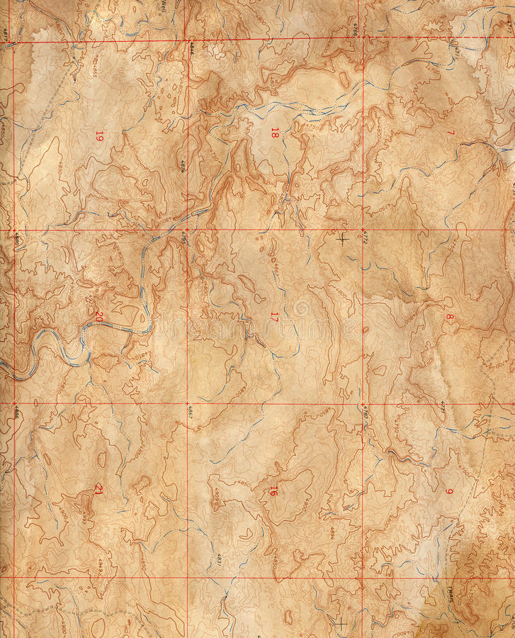 Download Old Topographical Map (Expedition Background ) Stock Image - Image: 12555761