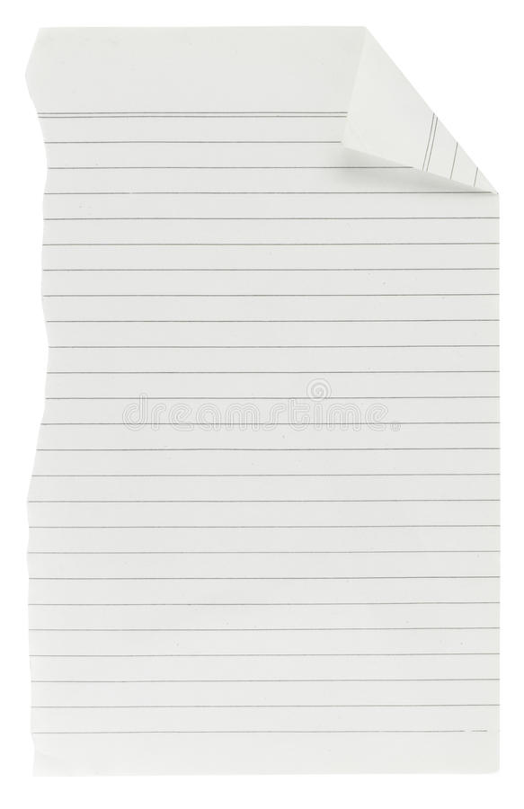 Download Old Torn Lined Paper Stock Images - Image: 37837144