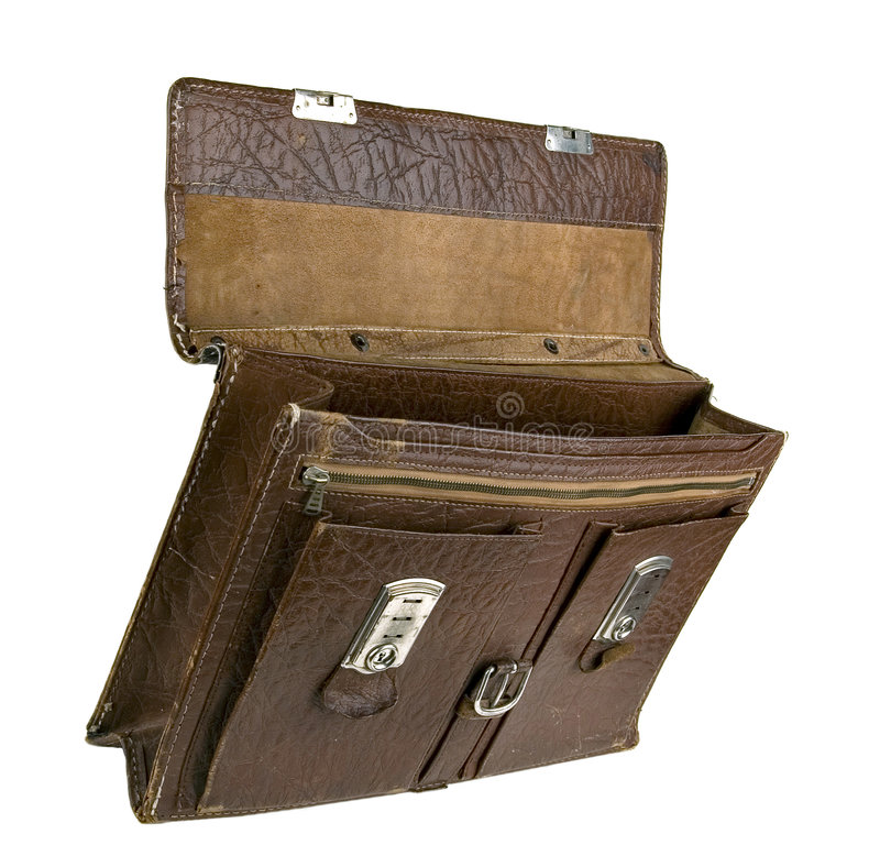 Download The old torn portfolio. stock image. Image of luggage - 3721909