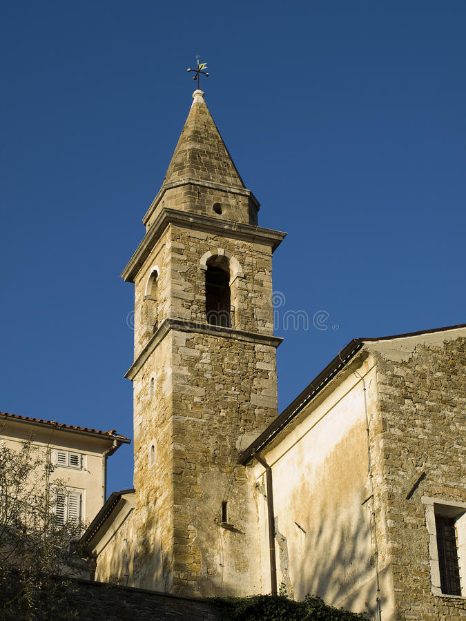 Old tower. Some years ago there was a good life now only tourist is coming to church royalty free stock photo