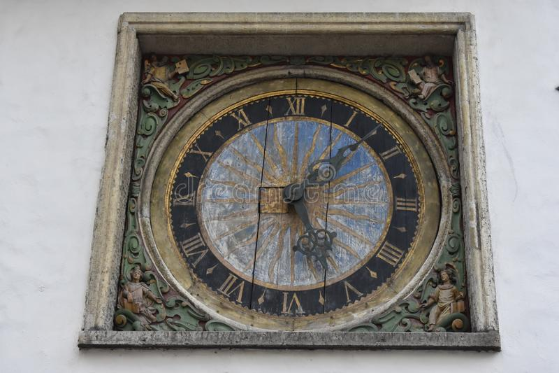 Old Tower Clock. City of Tallinn. Time, vintage, antique stock photography