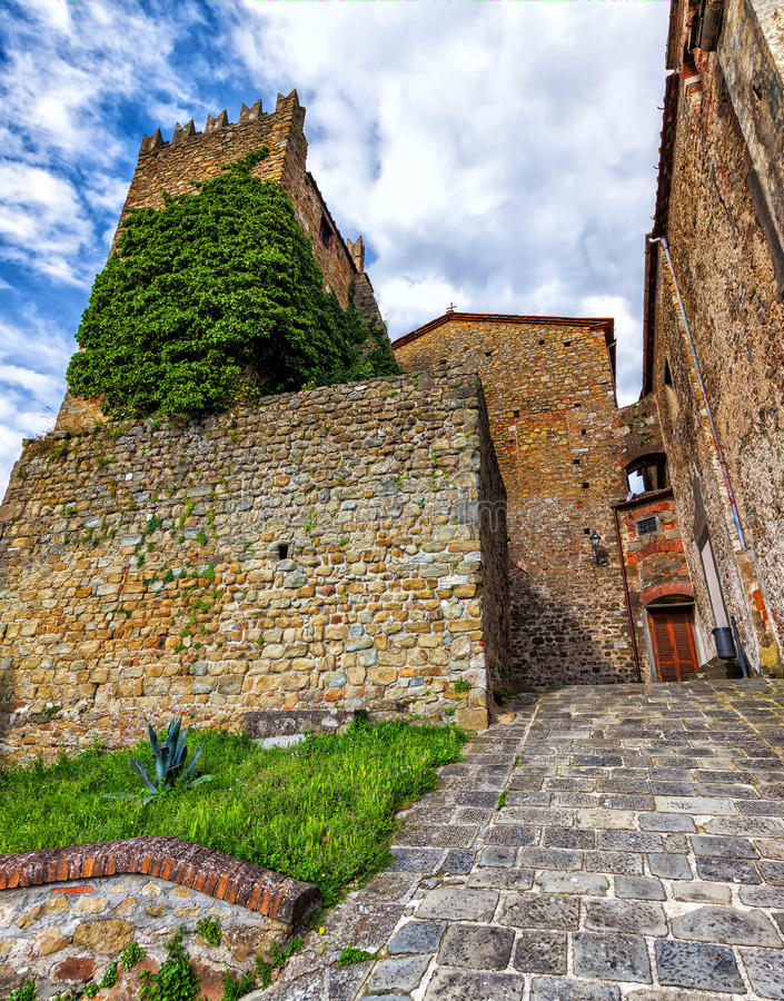 Old tower in Montecatini Alto royalty free stock image