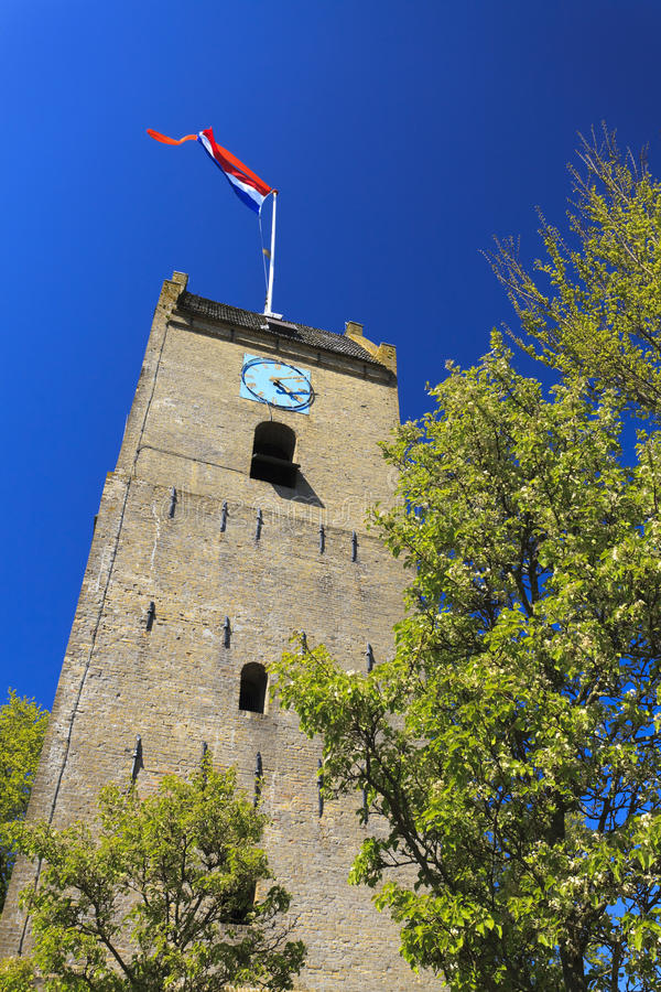 Download Old tower at Nes - Ameland stock image. Image of cathedral - 19452675