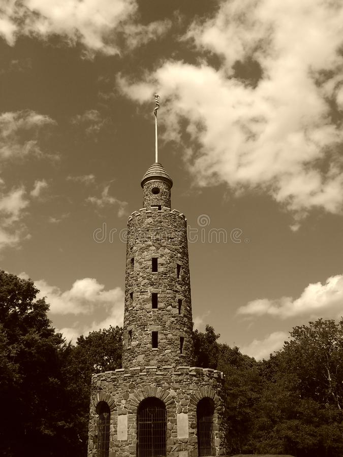 Old tower in Newport stock photos