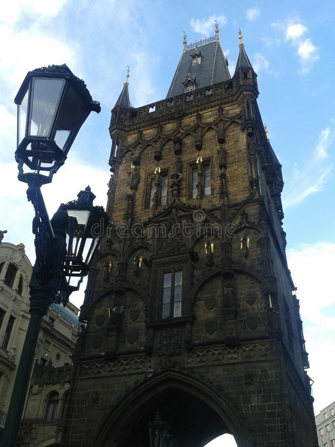 Old tower in Prague Czech Republic stock photography