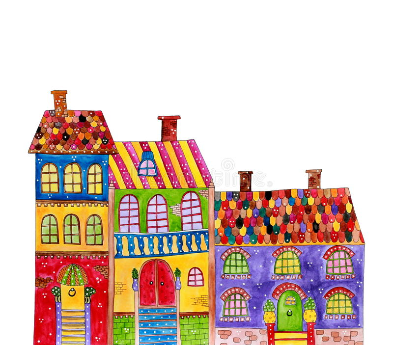 Download Old town stock illustration. Illustration of room, cover - 25845111