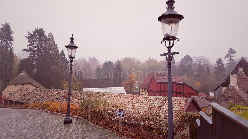The old town, Aarhus Denmark stock image