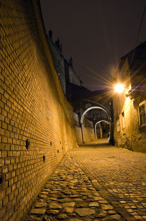 Old town alley royalty free stock image