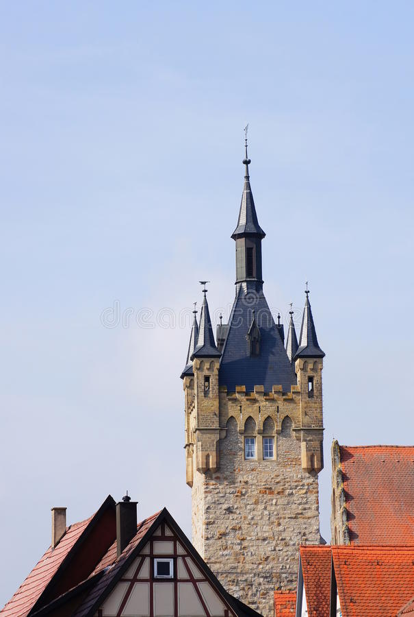 Free Old Town And Blue Tower In Bad Wimpfen Stock Photo - 34084260