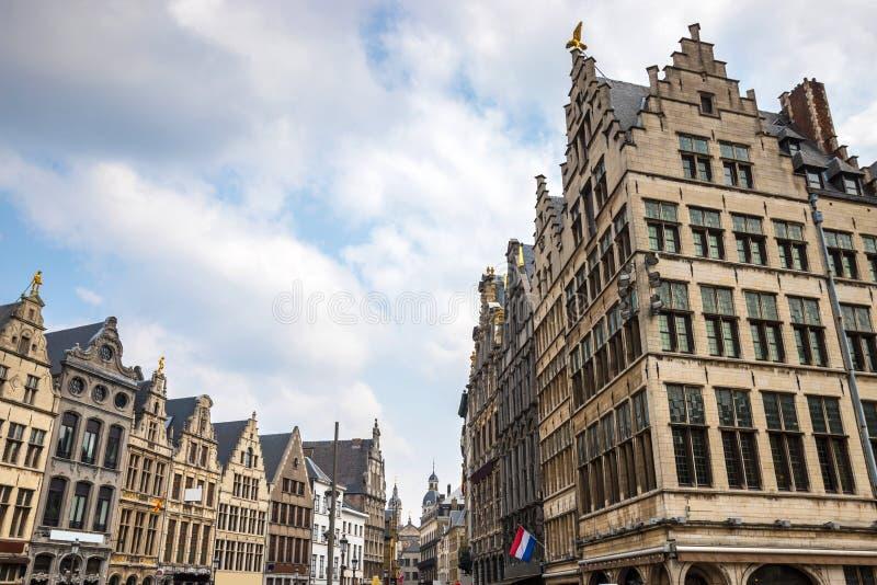 Old town antwerp belgium. The old town antwerp belgium royalty free stock photo