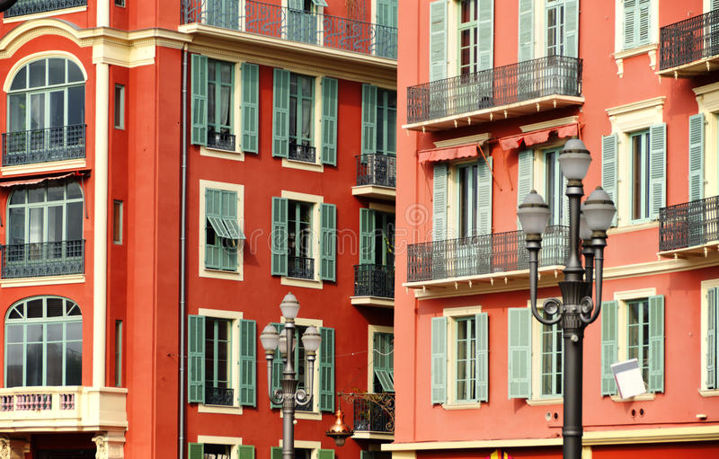 Old town architecture of Nice on French Riviera.  stock photos