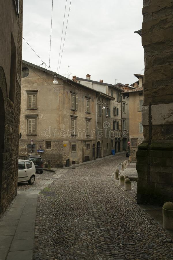 The Old Town in Bergamo, Italy royalty free stock images