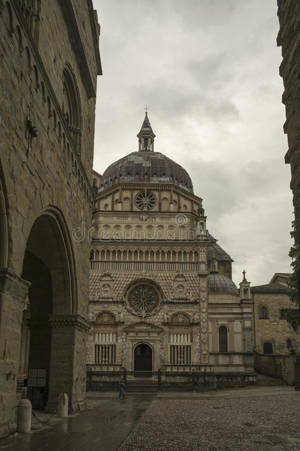 The Old Town in Bergamo, Italy royalty free stock photo