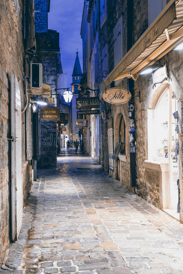 Old town Budva stock images