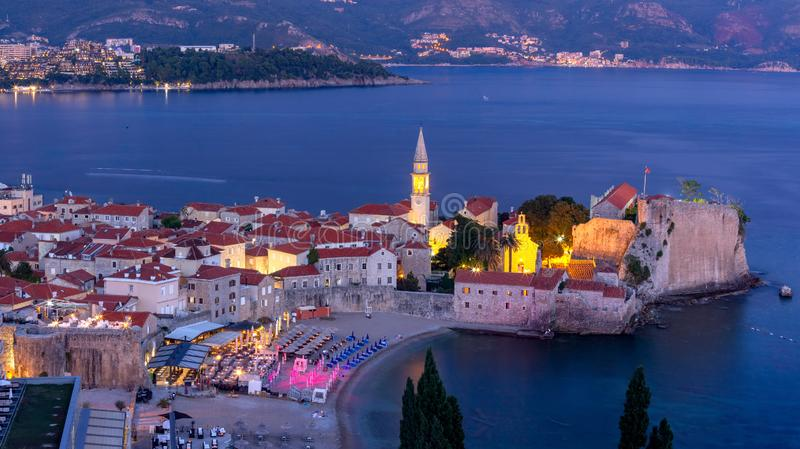 Old Town of Budva, Montenegro royalty free stock image