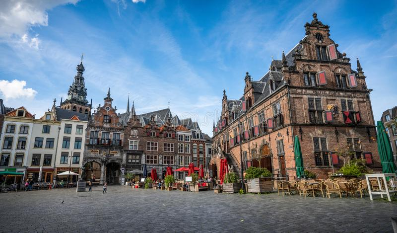 Old town center Nijmegen Netherlands with historical buildings. royalty free stock photos