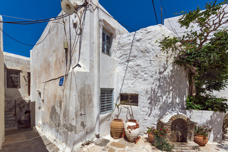 Old town of Chora town, Naxos Island, Greece. Old town of Chora town, Naxos Island, Cyclades, Greece stock photos
