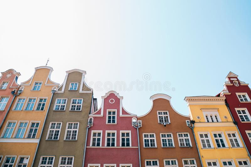 Old town colorful buildings in Gdansk, Poland royalty free stock photography