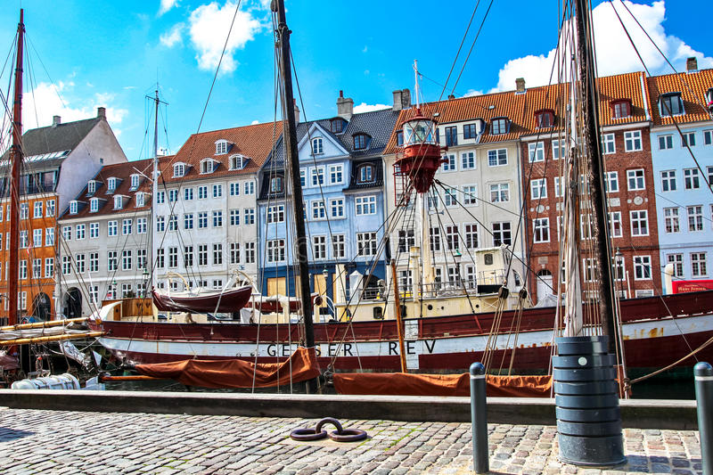 Old town at Copenhagen, Denmark royalty free stock photos