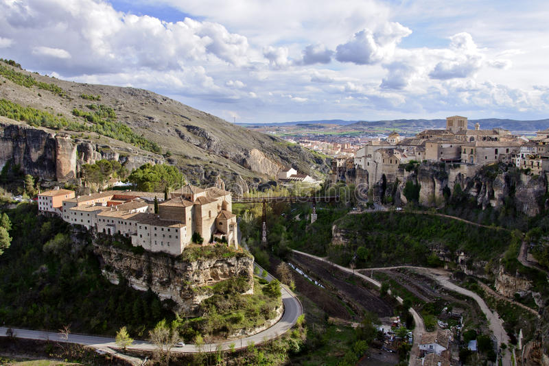 Old town of Cuenca, Spain stock images