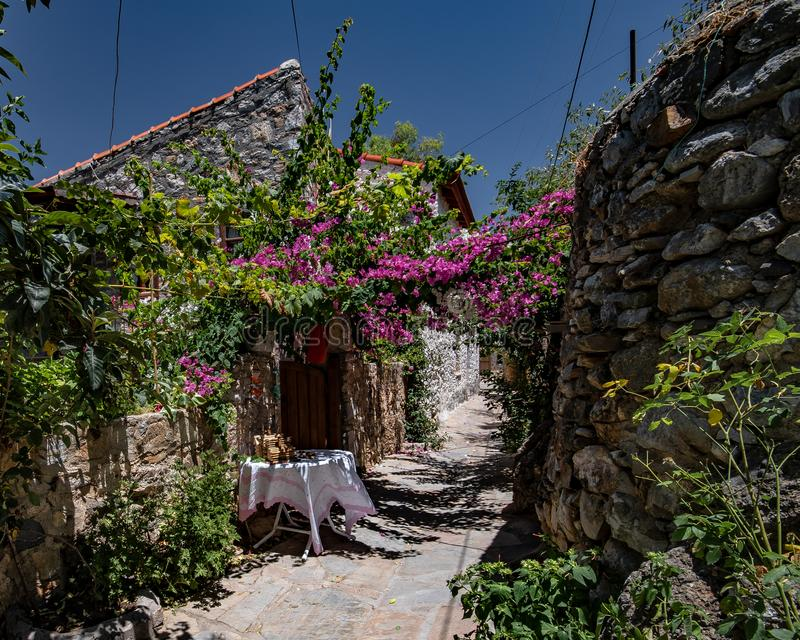 Old Town, Datca Turkey. A view a look from old Datca Town where is the nearly southest side of Turkey royalty free stock photo
