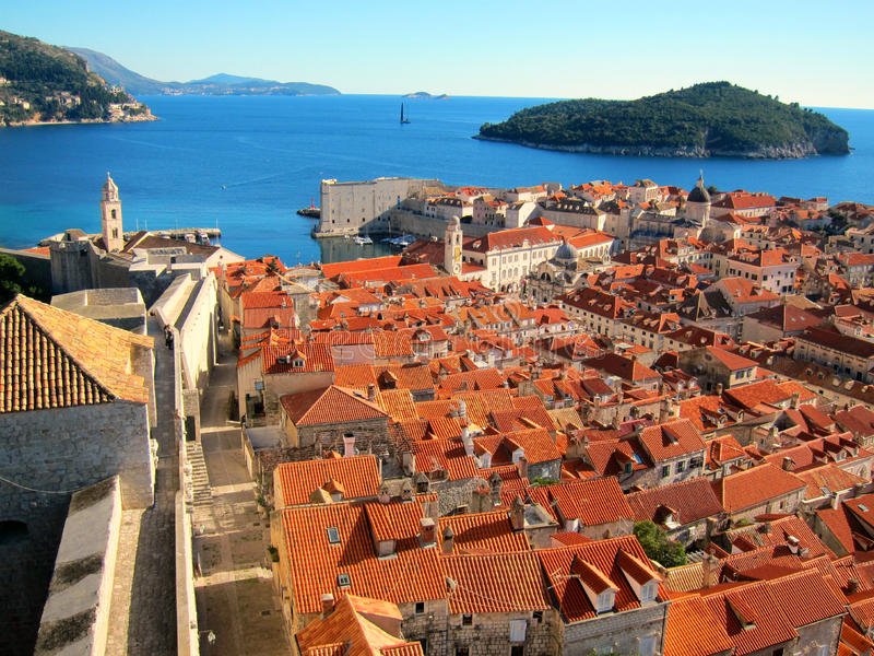 The old town in Dubrovnik royalty free stock image