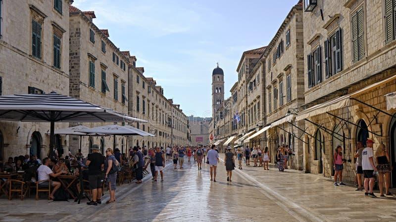 Old Town Dubrovnik, Kroatië stock afbeeldingen