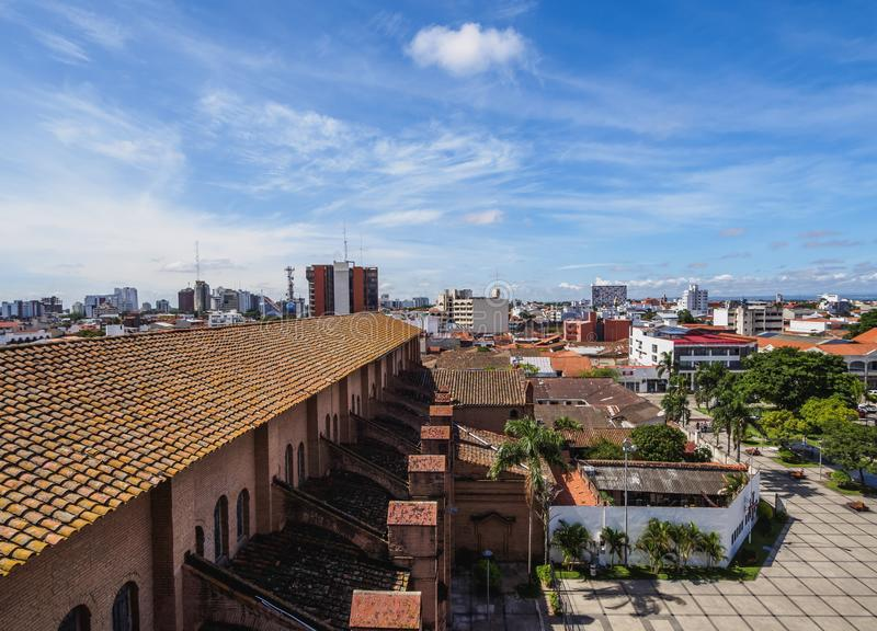 Santa Cruz de la Sierra in Bolivia. Old Town, elevated view, Santa Cruz de la Sierra, Bolivia stock image
