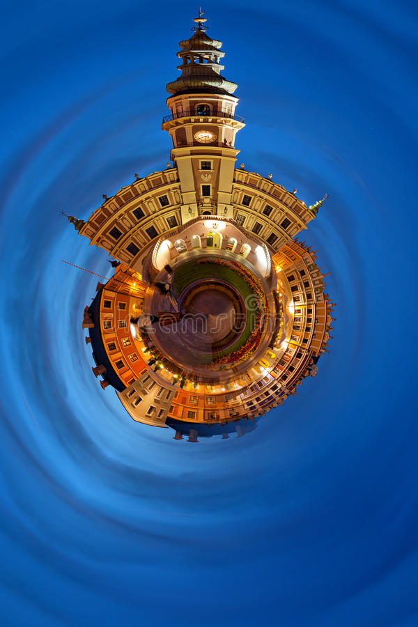 Old Town Fantasy in Zamosc, Poland. royalty free stock photo