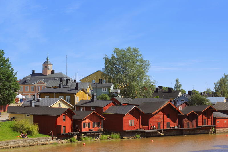 Old town in Finland stock photo