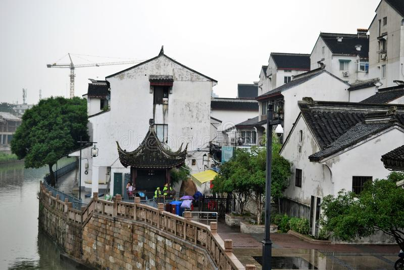 Old town and gardens of Suzhou, Zhejiang, China, Chinese water town stock image