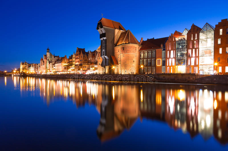 Download Old Town Of Gdansk At Night Stock Image - Image: 33864435