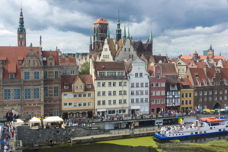 The Old Town in Gdansk, Poland stock images