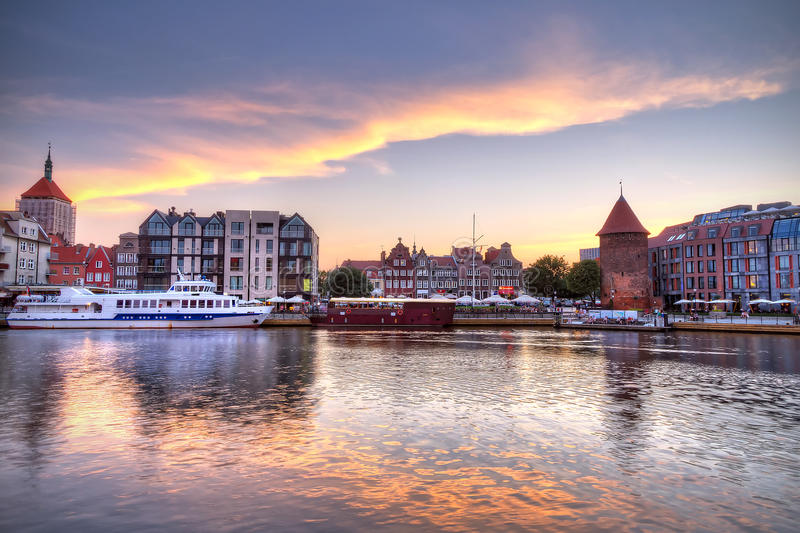 Download Old Town Of Gdansk At Sunset Stock Photo - Image: 26412662
