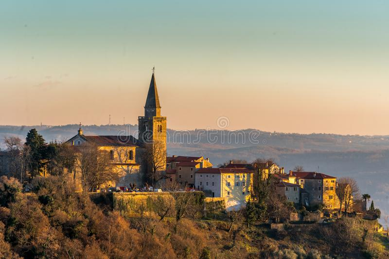 Old Town Groznjan. Istria, Croatia, photographed with my Nikon D750 at Winter afternoon stock photos