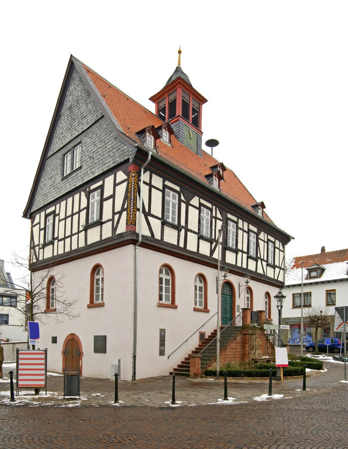 Old town hall in Bad Vilbel. Germany.  stock photo
