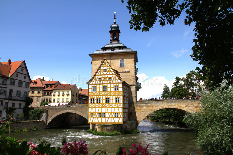 Download Old Town Hall Bamberg stock image. Image of germany, colorful - 25749617