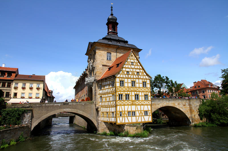 Old Town Hall Bamberg. Old Town Hall of Bamberg According to the legend, Bambergs bishop did not want to give a single millimetre of land to the citizens. This stock photography