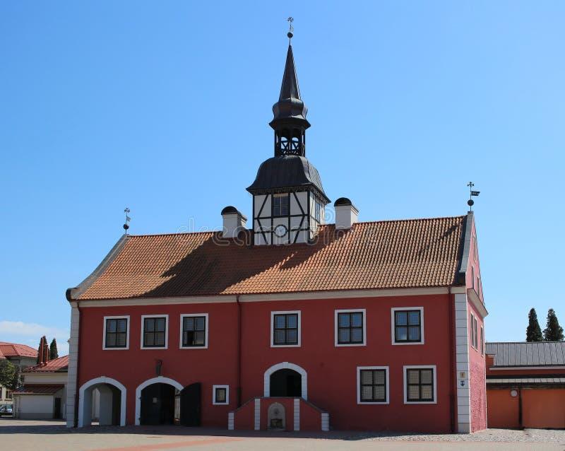 Old town hall at Bauska in Latvia. Old town hall at central square of Bauska in Latvia royalty free stock photo