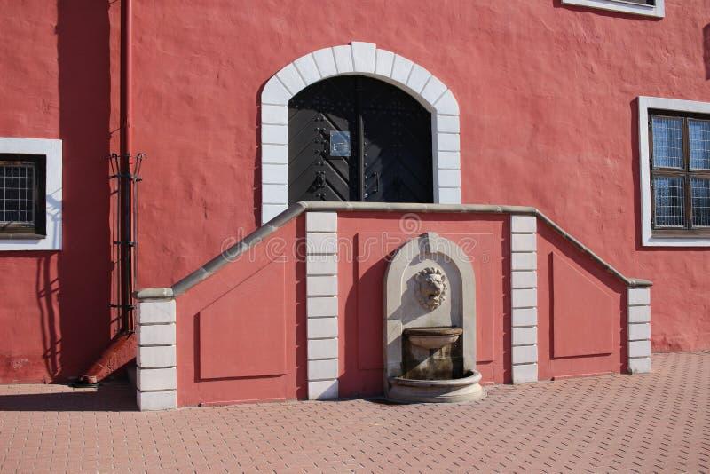 Old town hall at Bauska in Latvia. Old town hall at central square of Bauska in Latvia stock photo
