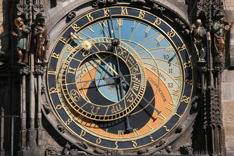 Download Old Town Hall clock stock photo. Image of gothic, apostles - 5055446