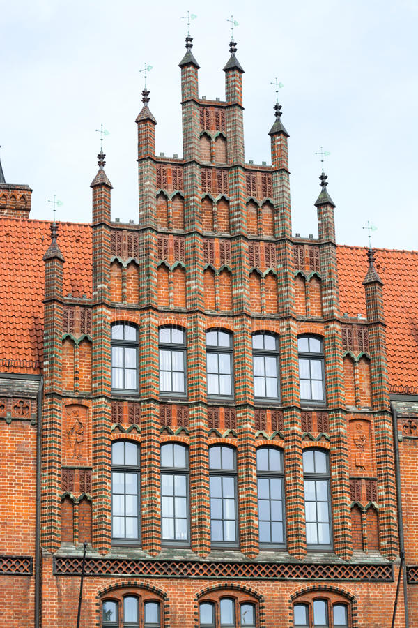 Old Town Hall, Hannover, Germany. Pinnacle gables at the Old Town Hall, Hannover, Lower Saxony, Germany, Europe royalty free stock photo