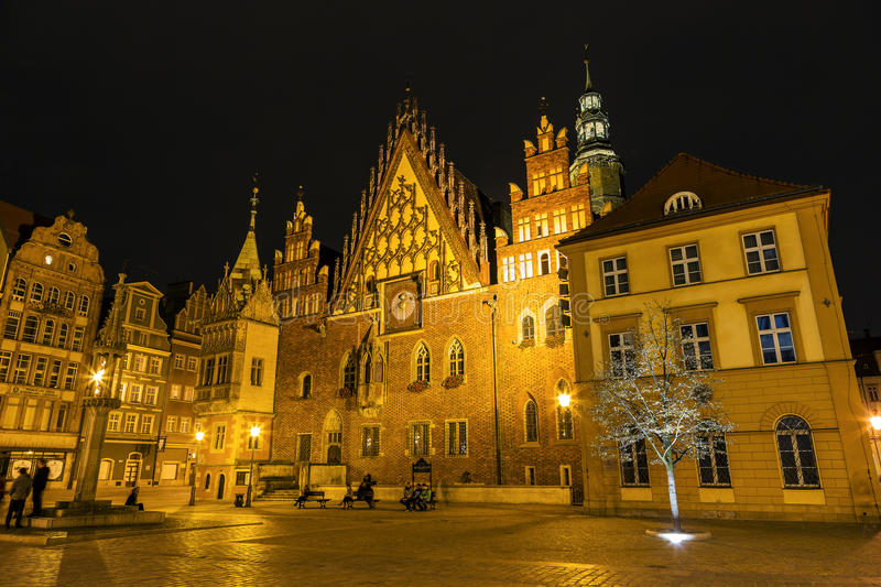 Download Old Town Hall By Night In Wroclaw, Poland Editorial Image - Image: 34332170