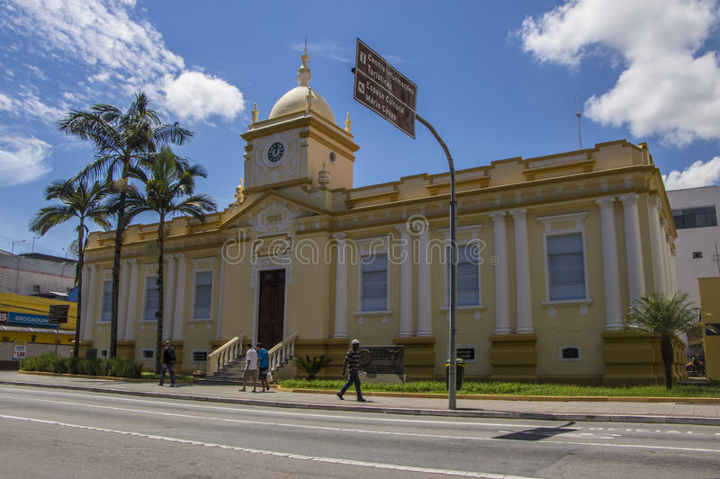 The old town hall of Sao Jose dos Campos - Brazil royalty free stock photography