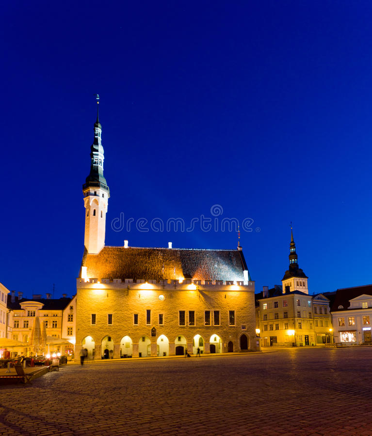 Old Town Hall in Tallinn royalty free stock image