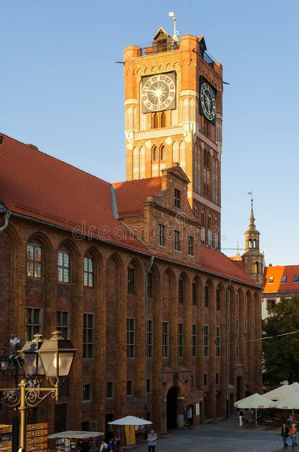 Download The Old Town Hall In Torun, Poland. Editorial Stock Photo - Image of brick, city: 53385998