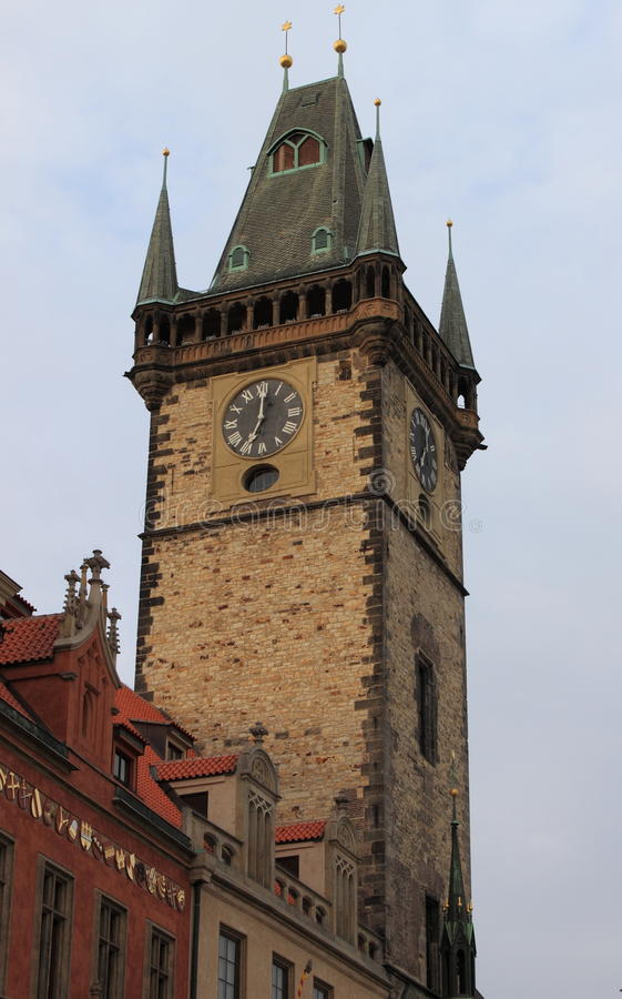 Old Town Hall Tower in Prague stock photos