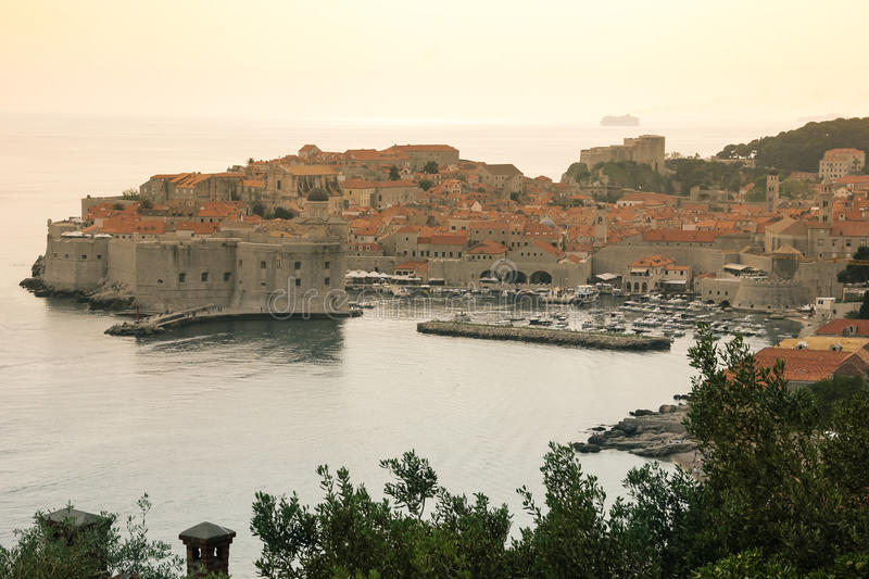 Old town and harbour. Dubrovnik. Croatia stock images