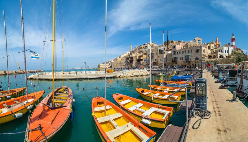 Old town and harbour of Jaffa stock photography